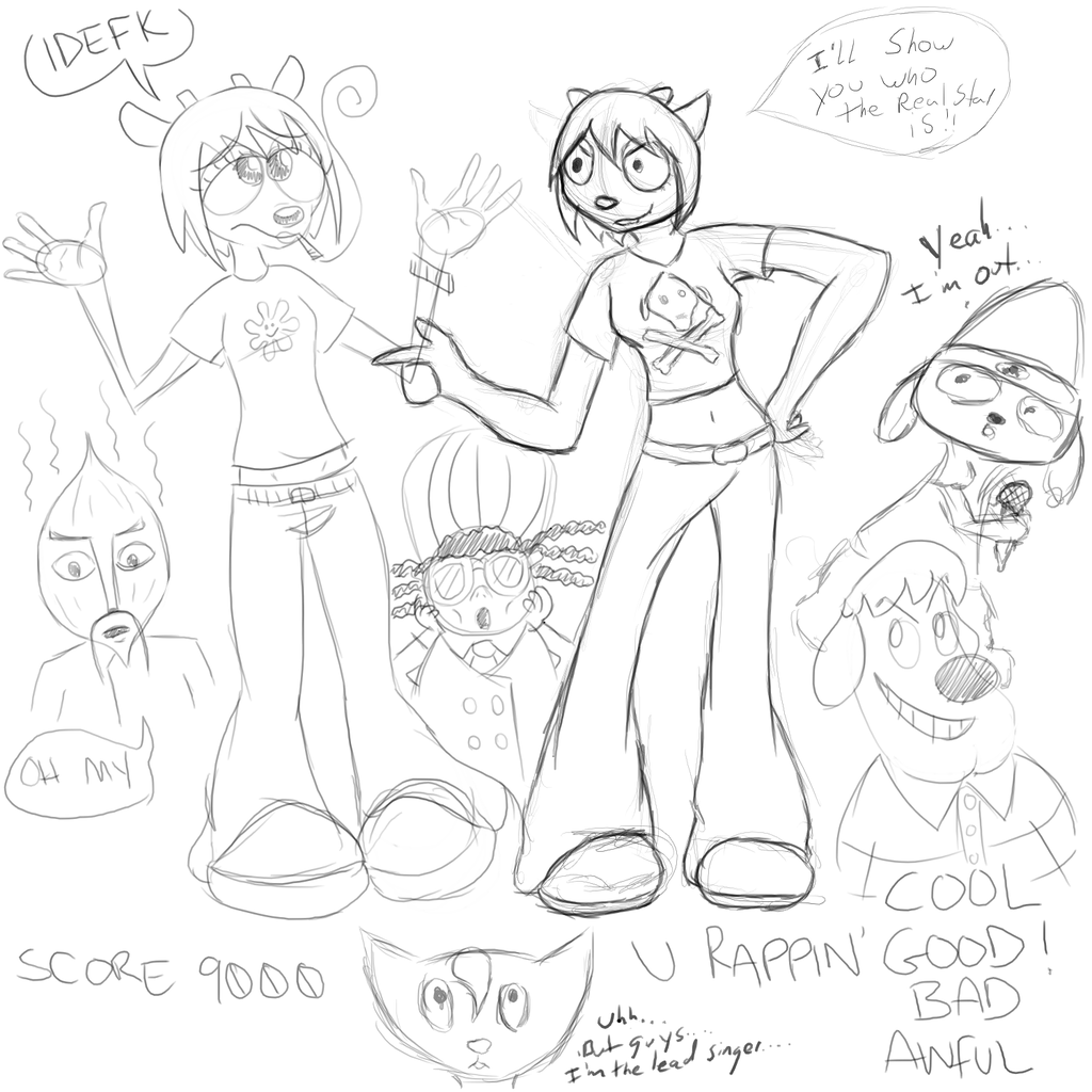 Me and Xei OC - Lammy/Parappa