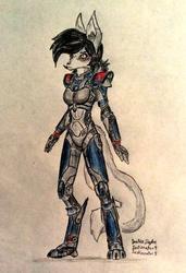 Ellie the cyborg wolf girl