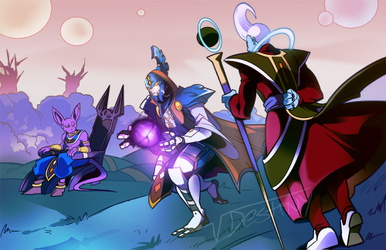 Whis and Beerus Training (COMMISSION)