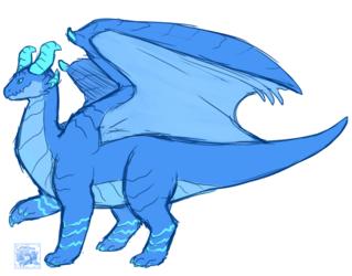 Dragon Storm Doodle
