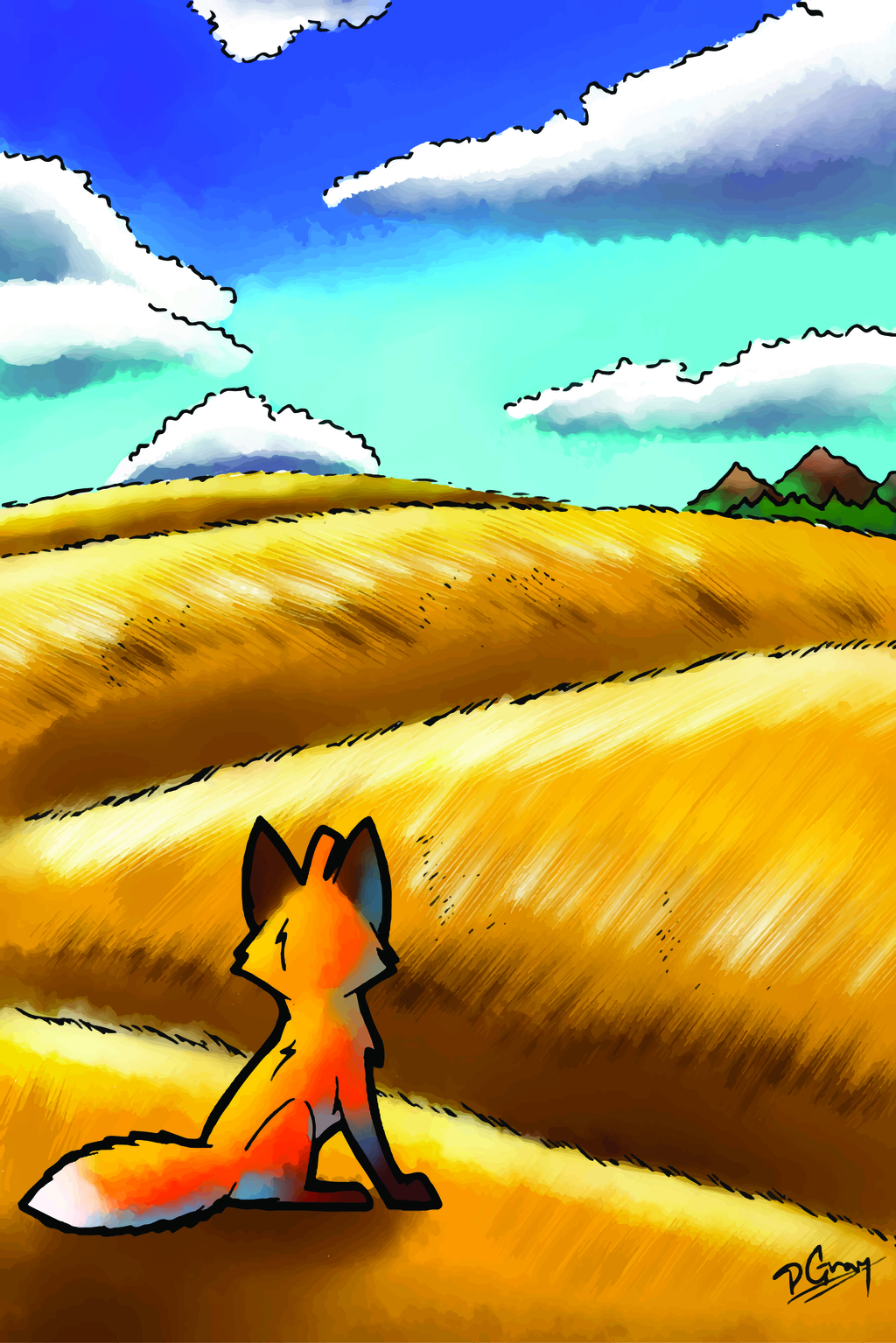 Fox and the hills