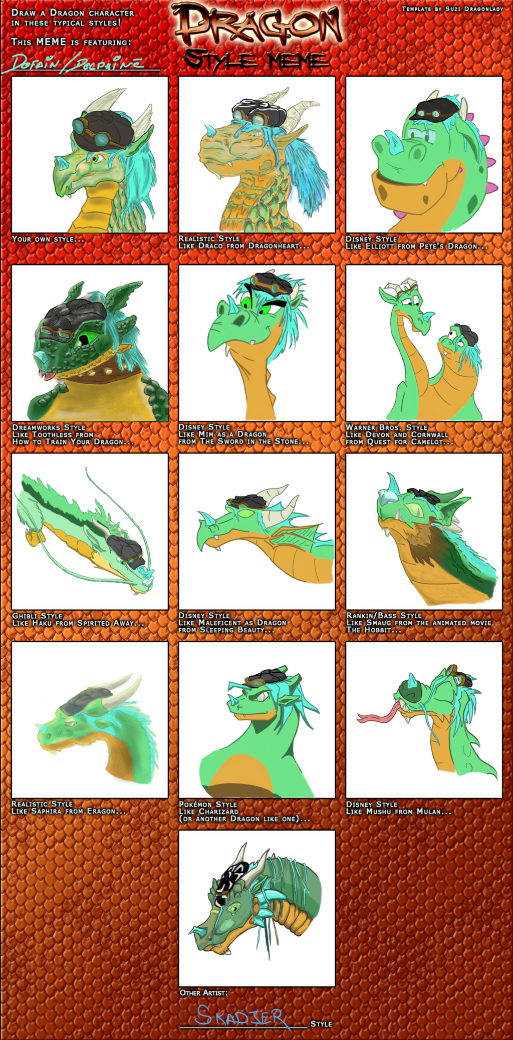 Most recent image: Dragon Style Meme Colored