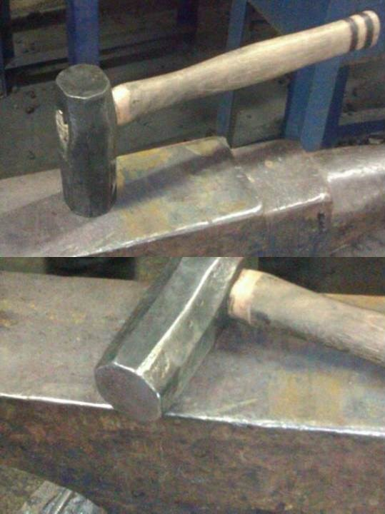 Japanese styled blade-smiths hammer (finished)*now destroyed*