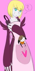 Allyn in Ignis' apron