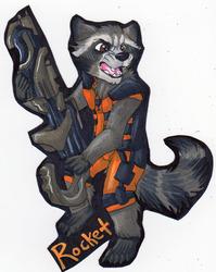 Fullbody badge - Rocket