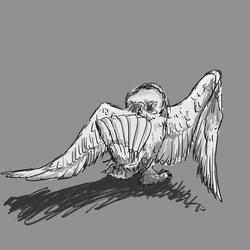 [untitled snowy owl]