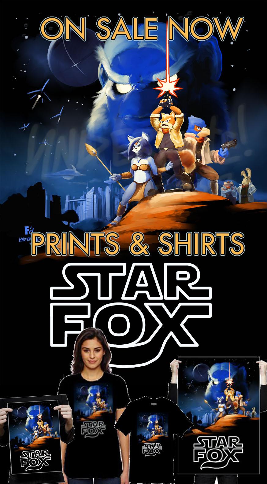 """""""Fox Wars"""" Prints/Tees on sale now!"""