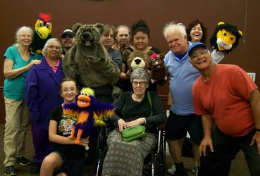 Suncoast Puppet Guild demo - Group Photo
