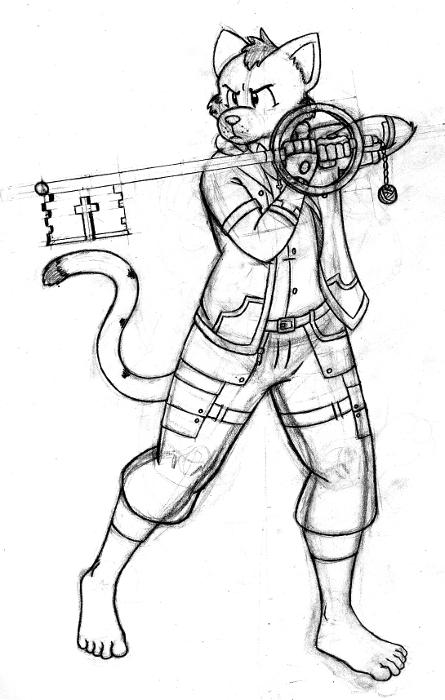 Keyblade warrior Peter? (sketch)