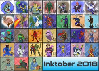 Inktober 2018 - 1d31 Starfinder NPCs