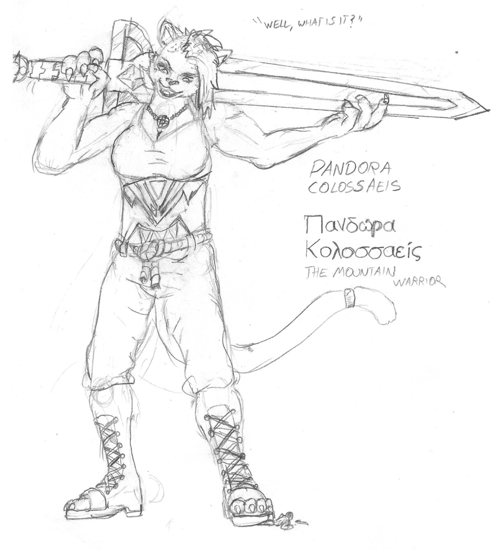 Pandora Colossaeis, Mountain Warrior