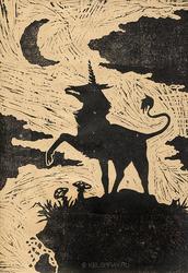 Linocut - Unicorn