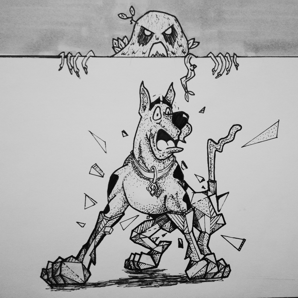 Shattered Scooby :: Inktober #12