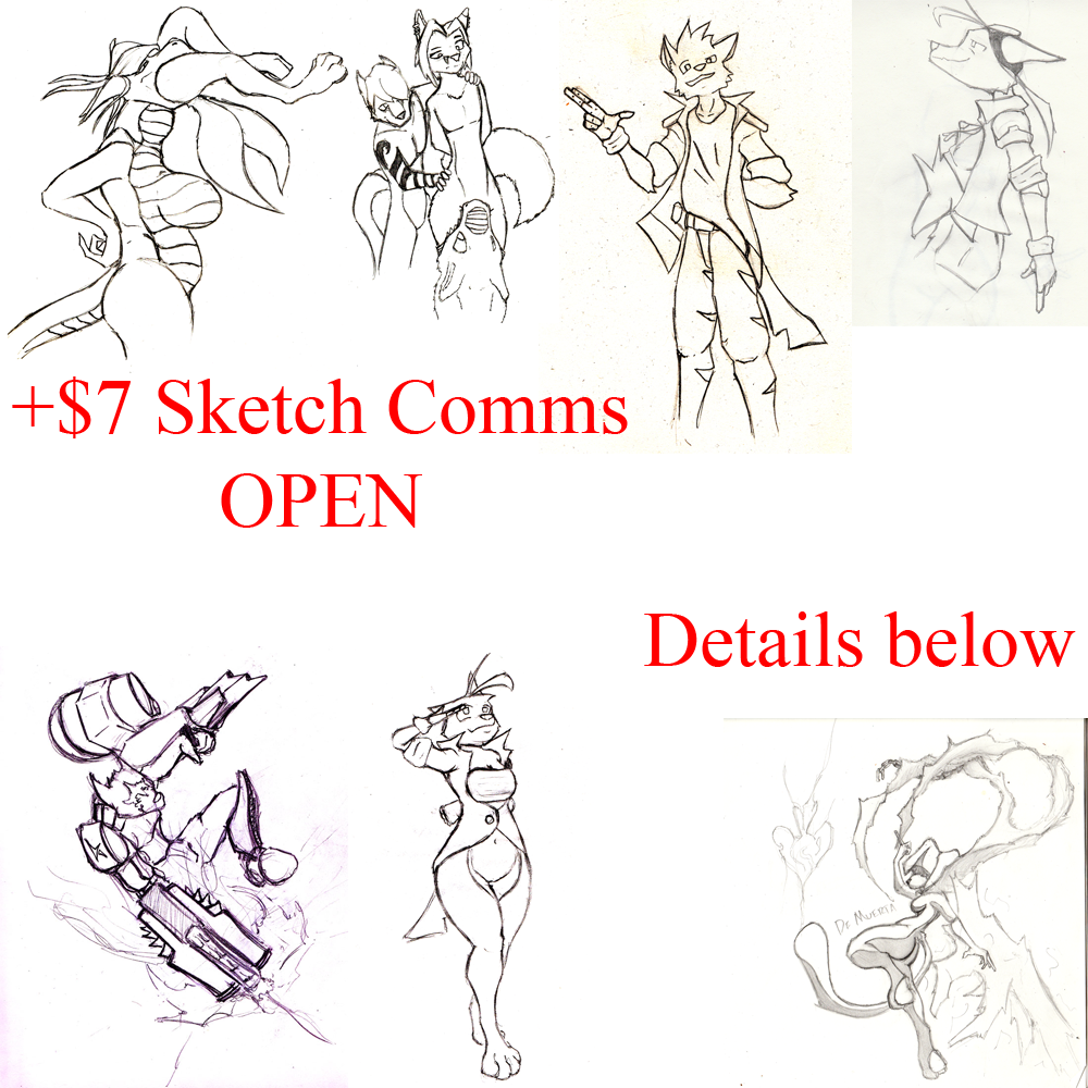 Most recent image: +$7 Sketch Comms OPEN