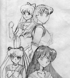 Sailor Moon and Sailor Scouts