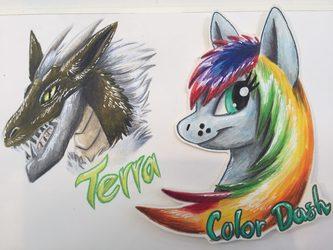 Terra, Color-Dash - Badges