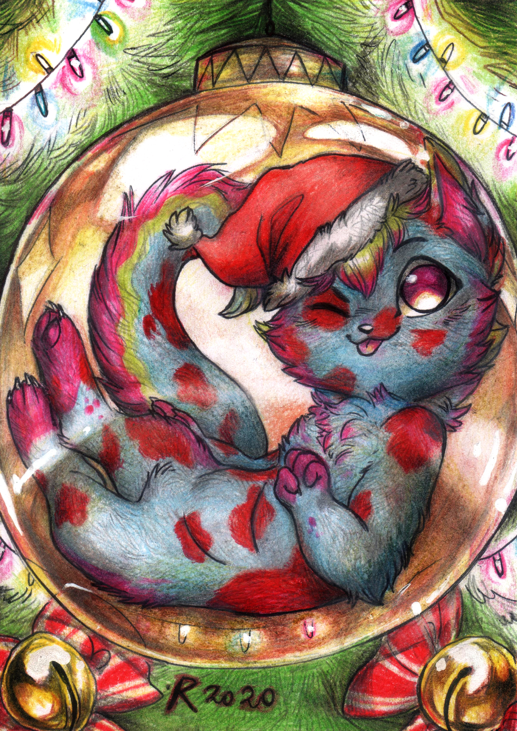 Most recent image: Chibi Commission - Christmas ball