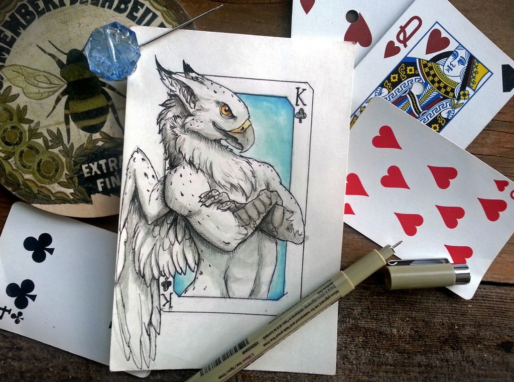"""Sora """"King of Clubs"""" by Millie Gryphon"""
