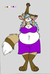 Chunky Anthro Leslie Stretch
