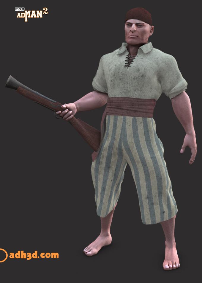 Most recent image: Pirate sailor