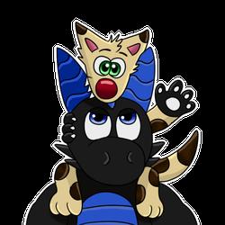 Tazz on Dark's head sticker