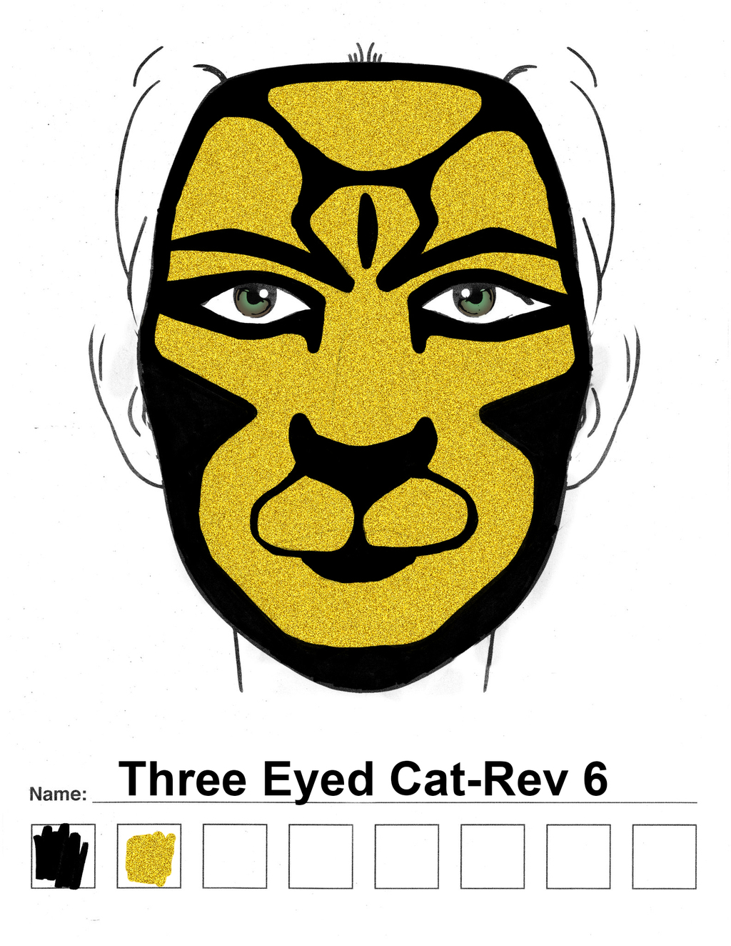 3-Eyed Cat Rev. 6 makeup sketch