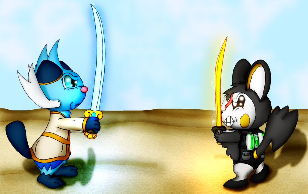 """Nikolai and Torquil's """"High-Noon Standoff"""" (Commission)"""