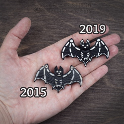 Then and Now - Bat skeleton