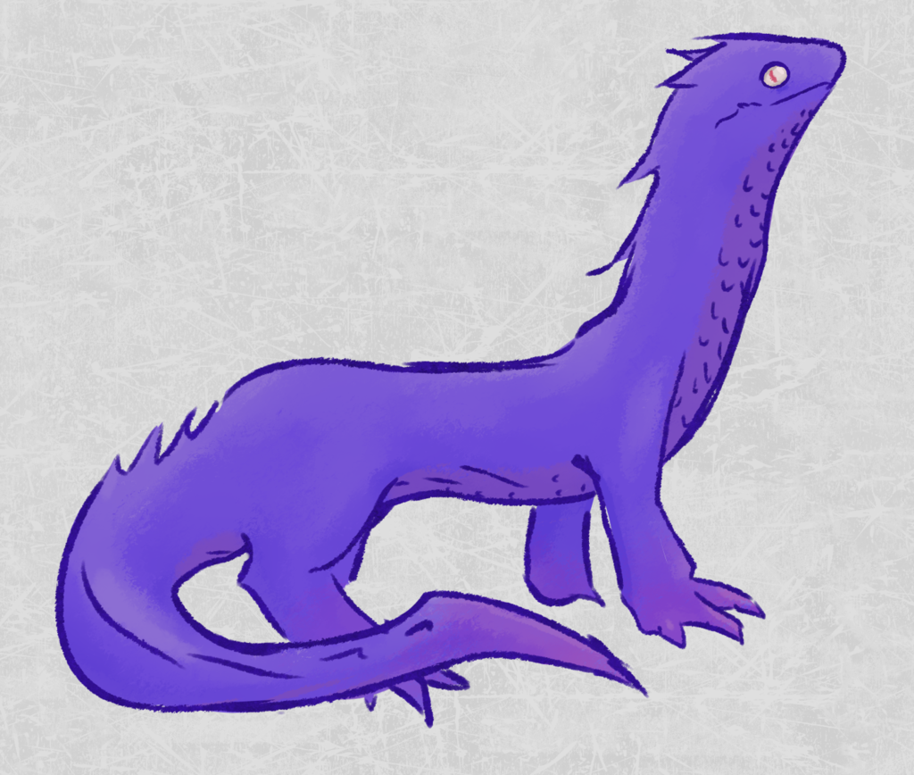 purple lizard thingy