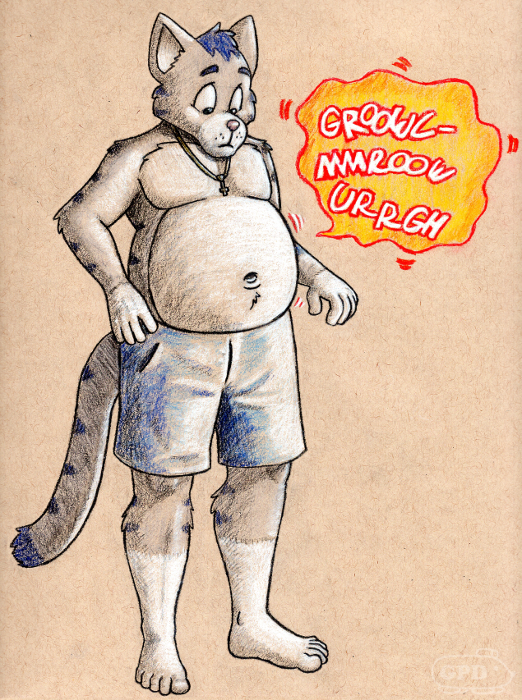 Peter's rumbly tummy on tone paper