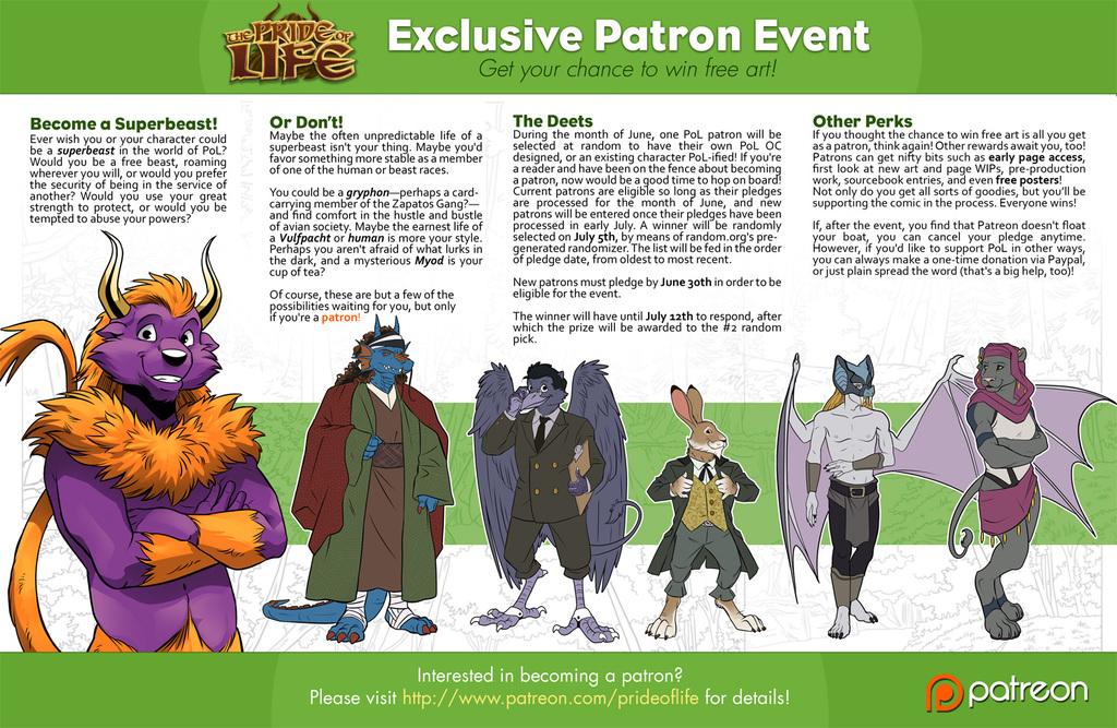 Patreon exclusive! PoL art raffle~