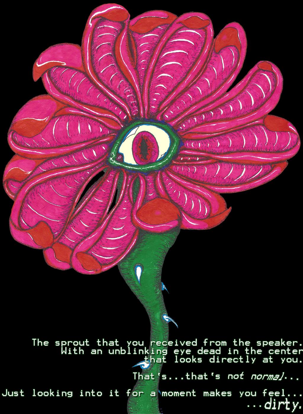 An eldritch flower