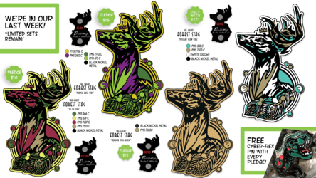 Great Forest Stag Pins