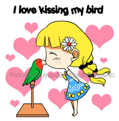 I love kissing my bird