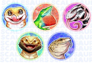 Scalesaurs Lizard Pins