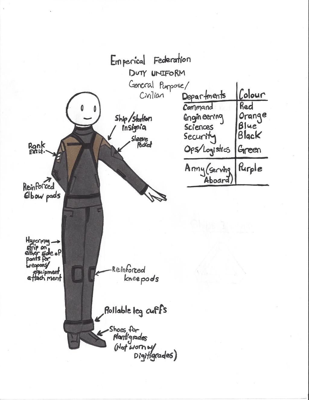 New Empirical Federation Navy Uniform
