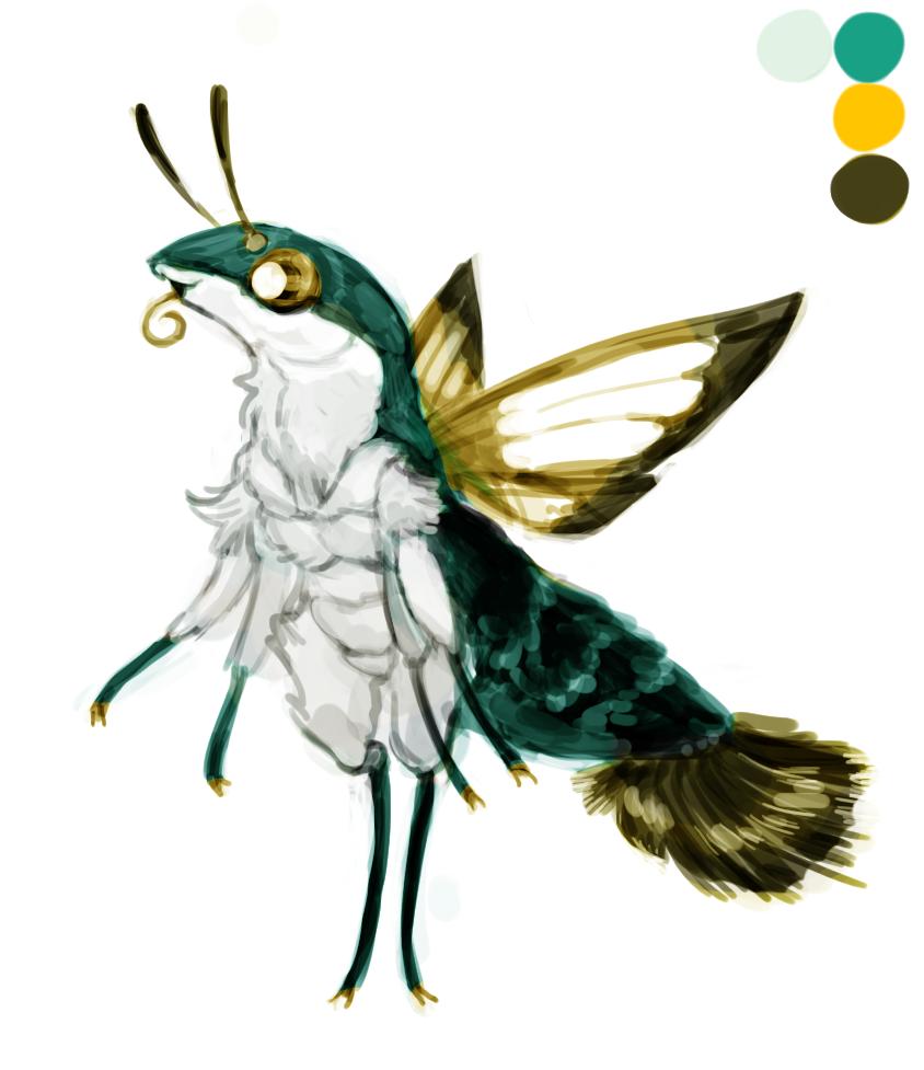unknown hummingbird moth character