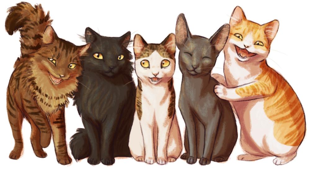 Five Genius Cats