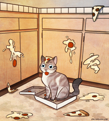 Gato Loves Pizza