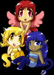The Pony Girls Trio Chibis