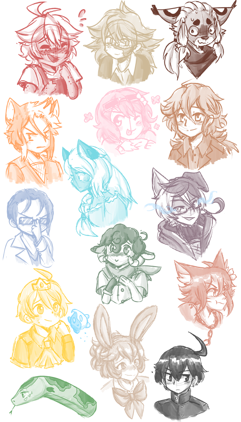 look at all these headshots