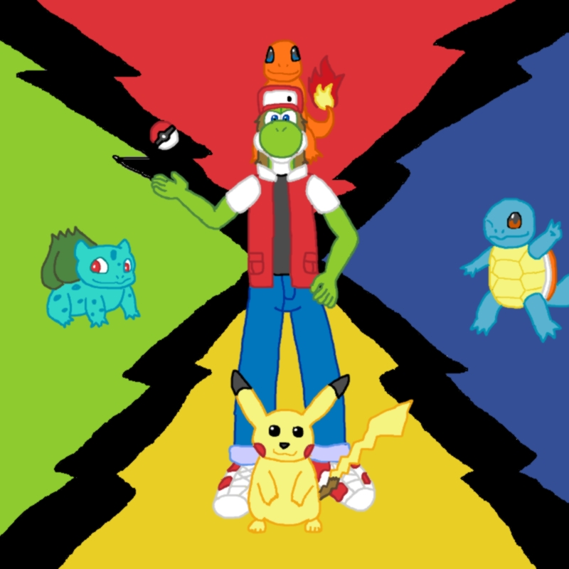 Pokemon Trainer Red wants to battle.