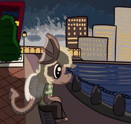 A PlushKitty Dragon nearby a river