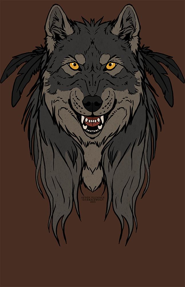 Tribal Werewolf - Shirt design.