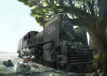 Plays with Trains (by Silverfox)