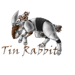 Tin Rabbit logo design