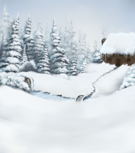 Pet Sim Background - Winter Cabin
