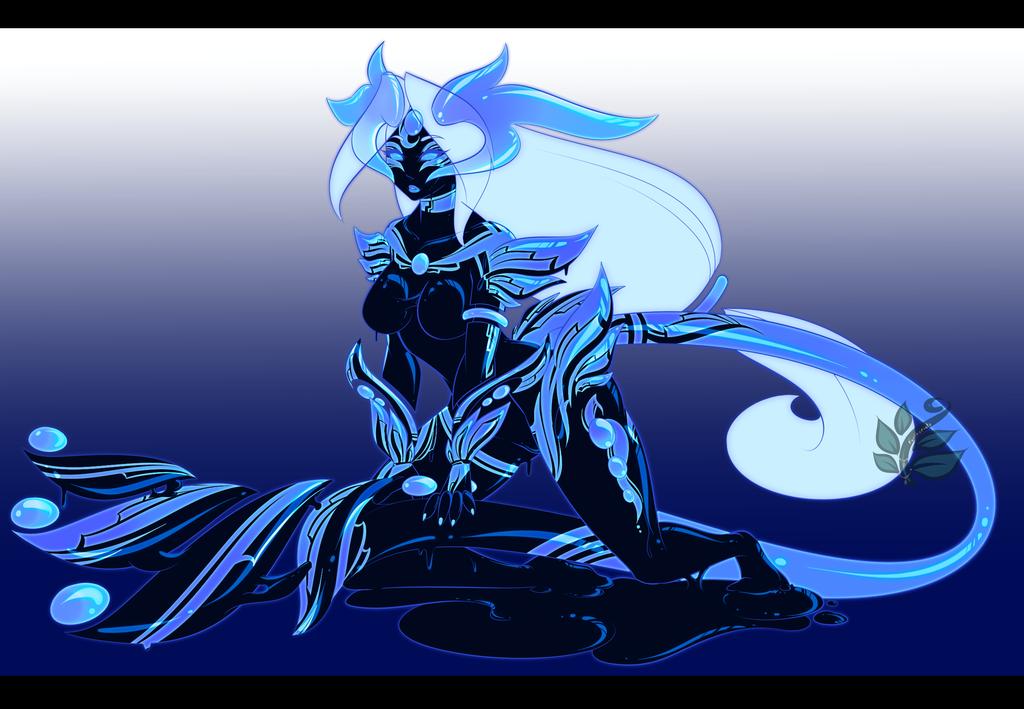 Blacklight Slime Girl