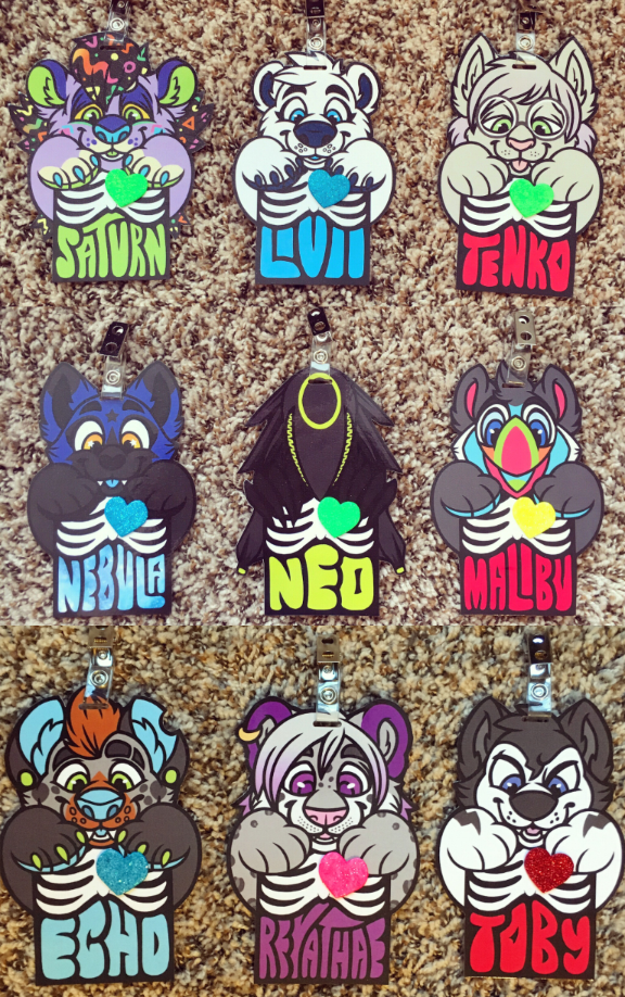 completed x-ray badges (old style)