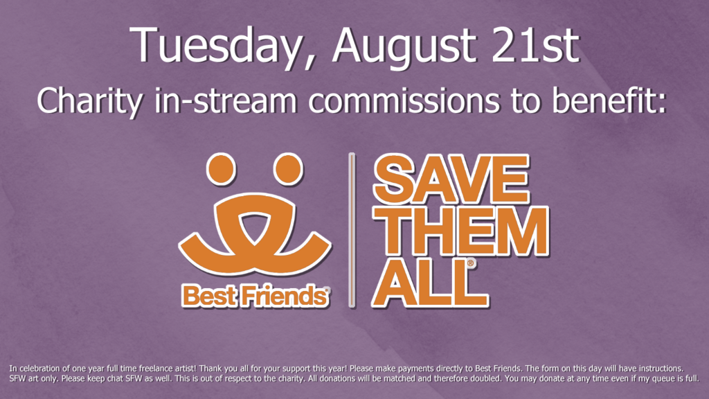 CHARITY STREAM AUGUST 21st
